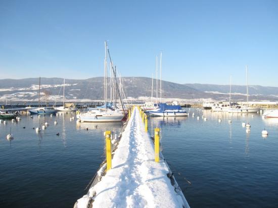 Port sous la neige